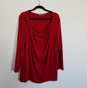 avenue size 26/28 red top with long sleeves